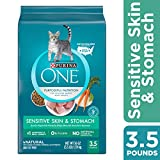 Purina ONE Dry Cat Food, Sensitive Skin and Stomach, 3.5 Lb Bag