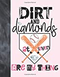 Dirt And Diamonds At Seven Are My Thing: Baseball Gift For Girls Age 7 Years Old - A Writing Journal To Doodle And Write In - Blank Lined Journaling Diary For Kids