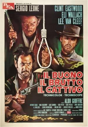 The Good, The Bad and The Ugly - Clint Eastwood - Italian - Poster da parete con film importato, 30 cm x 43 cm