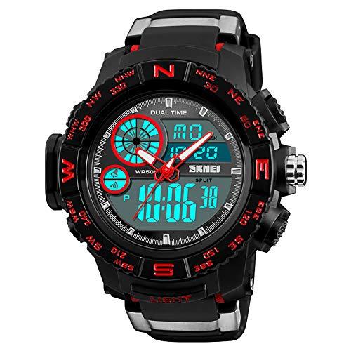 WATCH GYQ@ Nuevo Reloj multifunción de Doble Pantalla Hombr