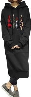 Style Dome Sudaderas con Capucha para Mujer Manga Larga Vestidos Sudadera Navidad Largas Tallas Grandes Jersey Pullover Ma...