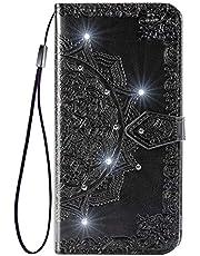 Lomogo iPhone XR ケース 手帳型 耐衝撃 レザーケース 財布型 カードポケット スタンド機能 マグネット式 アイフォンXR 手帳型ケース カバー 人気 - LOSDA050067 黒