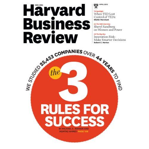 Harvard Business Review, April 2013 cover art