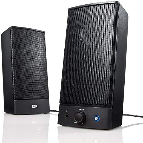 ISWAKI Computer Speakers, Bluetooth Speaker, Multimedia Speakers, Wireless Stereo Pairing Booming Bass Speaker for PC Bluetooth 5.0