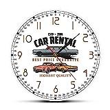 XINTANG Reloj De Pared Alquiler De Coches Logotipo De Empresa Personalizado Reloj De Pared Alquiler De Coches Decoración De Oficina Arte De La Pared Garaje Reloj