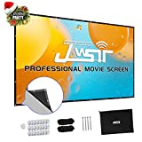 Projector Screen, Upgraded 135 inch 4K 16:9 HD Portable Projector Screen, Premium Indoor Outdoor Movie Screen Anti-Crease Projection Screen for Home Theater Backyard Movie.