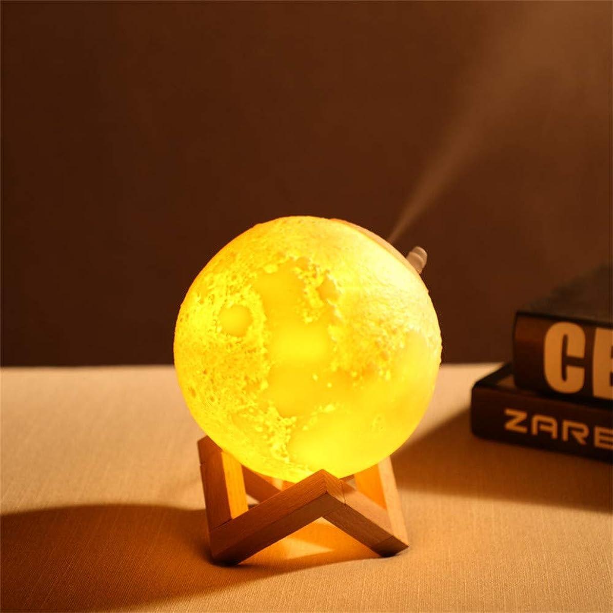 パイルキャリッジ預言者Essential Oil Diffuser 3D Moon Lamp Ultrasonic Cool Mist Aroma Diffuser Multifunctional Waterless Auto Shut-Off Night Light Humidifiers Room Decor Lighting (White) 141[並行輸入]