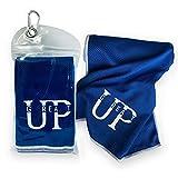 UP GREAT Kühlendes Handtuch aktmungsaktiv für Fitness, Radfahren, Wandern, Yoga, Laufen, Golf, Tennis - Cooling Towel blau