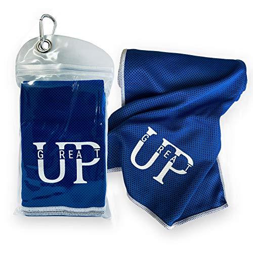 UP GREAT Kühlendes Handtuch für Fitness, Radfahren, Wandern, Yoga, Laufen, Golf, Tennis - Cooling Towel blau
