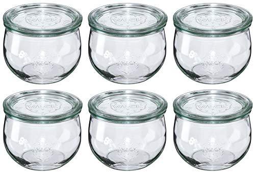 Weck - Glas in Tulpenform 0,5l Rundrand 100 mit Deckel - 6-teilig/1St