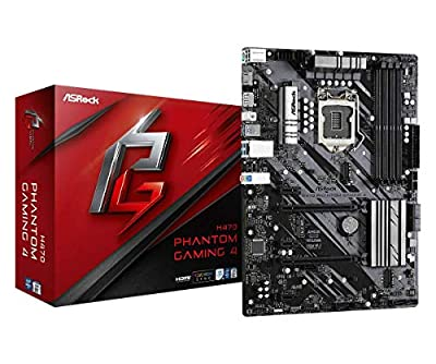 ASROCK H470 Phantom Gaming 4 Supports 10th Gen Intel Core Processors (Socket 1200) Motherboard