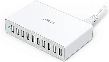 Anker 60W 10-Port USB Wall Charger, PowerPort 10 for iPhone Xs/XS Max/XR/X/8/7/6s/Plus, iPad Pro/Air 2/Mini, Galaxy S9/S8/...