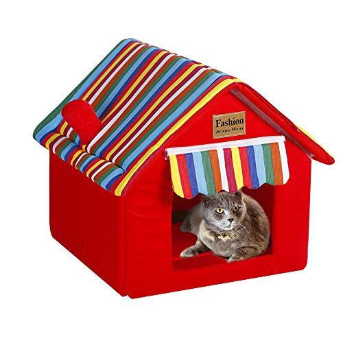 Gato Casa Perrera Puppy Condo Nido de conejo Tienda Bunny Bed Choza...