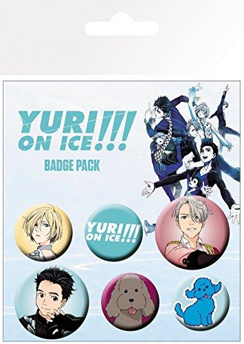 GB eye - Confezione di distintivi Yuri On Ice Mix in alluminio, multicolore, 14 x 0,3 x 10 cm