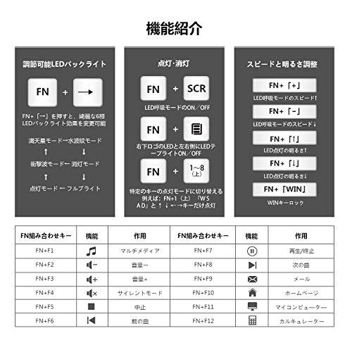 LANGTU『ゲーミングキーボード(X1000-黒)』