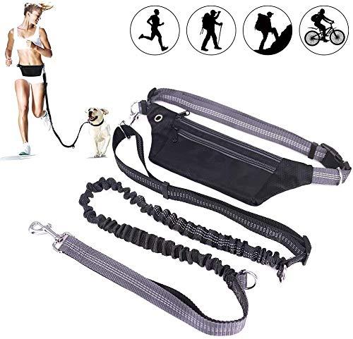 ALISTAR Hundeleine für Große Hunde Joggingleine mit Bauchgurt Hundeleine Elastisch Reflektierend Laufleine für Hunde MEHRWEG
