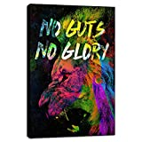 Yetaryy Abstract Colorful Lion Wall Art Modern Inspirational Motivational Entrepreneur Office Posters Prints Picture Canvas Painting Artwork Gym Bedroom Decoration - 12' Wx18 H