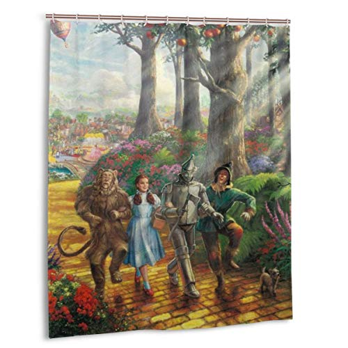 KRISMARIO The Wizard of Oz Shower Curtains Target Durable Waterproof Resistant Fabric Funny Bath Shower Curtain for Bathroom with 12 Hooks, 60 X 72 Inches