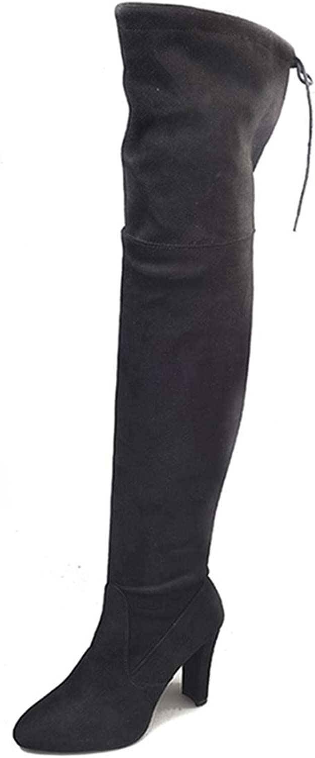 DOSOMI Women's Autumn Winter Sexy Over The Knee Stretch Thigh High Boots (Medium and Wide Calf)