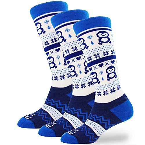 Ski Socks Youth, Toddler, Boys, Girls - Kids Snowboard Sock, Warm Wool Winter (3 Pairs - Aqua/Blue, XS/S)