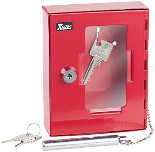 Xcase Notschlüsselkasten: Profi-Notschlüssel-Kasten mit Einschlag-Klöppel & Sicherheits-Schloss (Notfallschlüsselkasten)