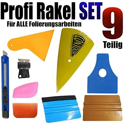 qlil EIN 9 Teilige Profi Rakel Set - Auto Folierung - Auto Glass