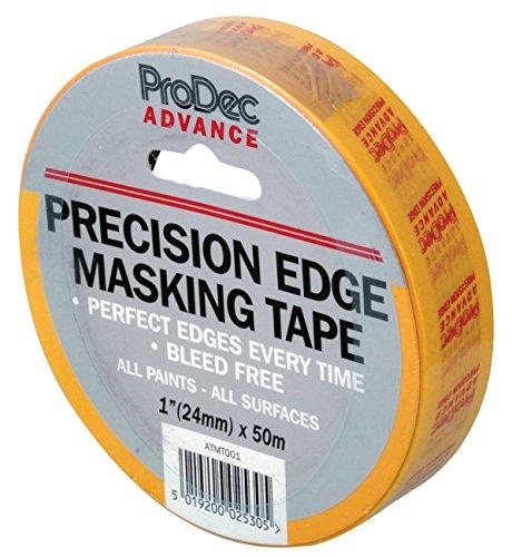 ProDec atmt00125mm Advance Rand Präzisions-Klebeband Krepp-Abdeckband–Gelb