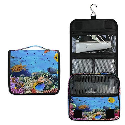 RXYY Bolsa de aseo para colgar de viaje, diseño de pez rojo...