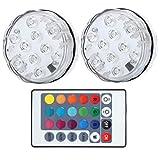 Luz subacuática - Luces LED sumergibles Luces subacuáticas impermeables para piscinas con temporización de control remoto para decoración de acuarios
