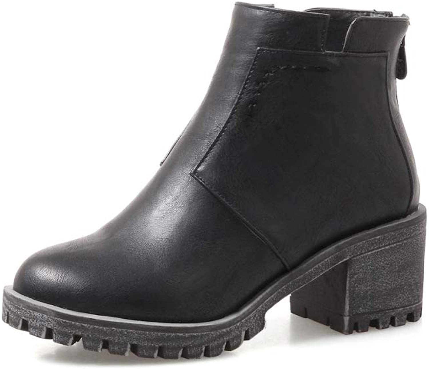 Women Fashion Ankle Boots 2018 Autumn Heeled Chelsea Boots Size 3143