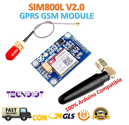 SIM800L V2.0 5V Wireless GSM GPRS MODULE Quad-Band with Antenna Cable Cap |SIM800L Wireless GPRS GSM Modulo SIM Scheda 5 V Quadband QUAD BAND L Antenna per Arduino