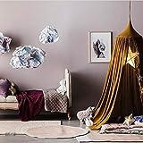 Color : Khaki, Size : Size Emmala Princess Canopy Cama con Dosel Casual Chic Mosquitera Tienda para Ni/ños Vivero Decoraci/ón Colores Gris