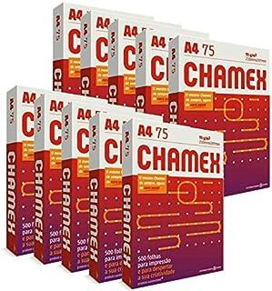 Kit 10 Pacotes De 500 Folhas De Papel Sulfite A4 Chamex