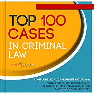 Top 100 Cases in Criminal Law audiobook cover art