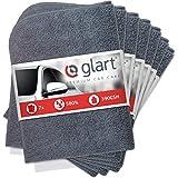 Glart - Pack de 7 paños multiusos de microfibra de gran suavidad 380 GSM para el cuidado de la pintura del coche, la moto y para la pulidora, no dejan pelusas y son absorbentes, 40 x 40 cm