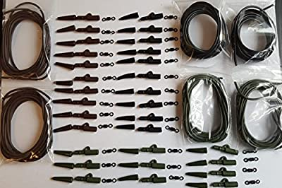 Carp Fishing mixed colour End Tackle 96pc carp weight lead saftey clips, cones tubeing for bolt rigs by AJM TACKLE