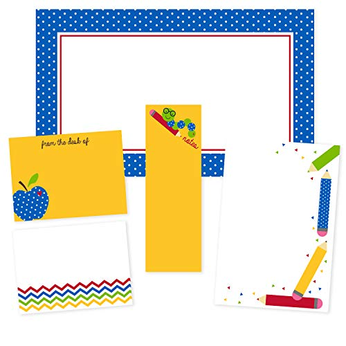 School Adventures Teacher Adhesive Sticky Note Pack - 5 pads - 50 sheets/pad