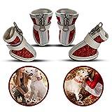 Sangkeys Zapatos de velcro para perro, botas cálidas, cómodas, impermeables, antideslizantes, resistentes al desgaste, suelas antideslizantes para todos los perros (tamaño 5)