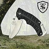TS Knife | Mini Marines Cuchillo Plegable Navaja Asistida de Bolsillo para Hombres y Mujeres | Hoja de Acero Inoxidable de 6,8cm | Cuchillo de Supervivencia, para Pesca, Senderismo, Camping