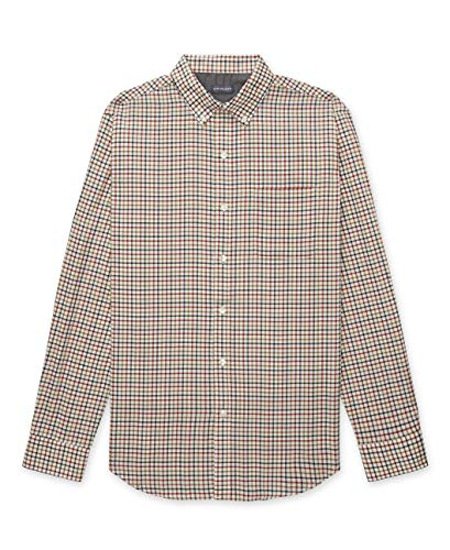 Van Heusen Herren Big and Tall Flex Long Sleeve Stretch Shirt Button Down Hemd, Picante Red Tattersall, XX-Large Groß