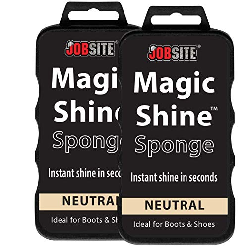 JOB SITE Instant Express Leather Boot & Shoe Shine Sponge - Neutral - 2 Pack