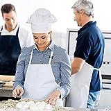 InnoGear 2 Stücke verstellbare Schürze mit 2 Taschen, Kochenschürze Küchenschürze für Küche, Restaurant, café (Weiß Dicke Polyester) - 5