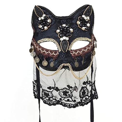 Dyljyf Catwoman Masker Venetiaanse Vos Masker Handgemaakte Decoratie Japanse Masker Halloween Masquerade Nachtclub Bar Prestaties
