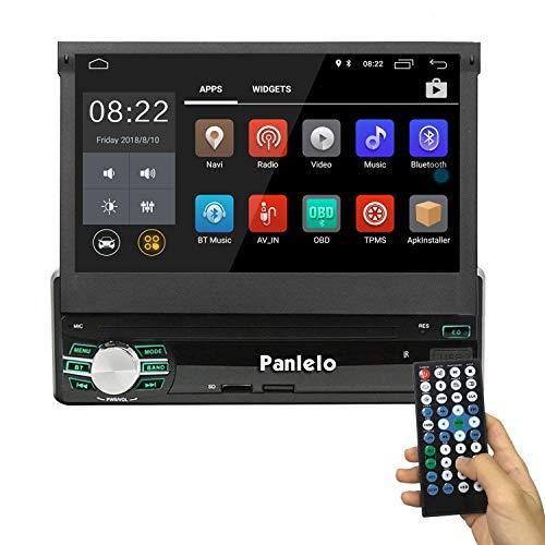 Android 8.0 Single DIN estéreo de Coche GPS navegación Quad Core 1G RAM/16G ROM 7 Pulgadas Pantalla táctil Unidad de Cabeza Unidad Am/FM/RDS Radio Plegable Monitor Audio BT WiFi