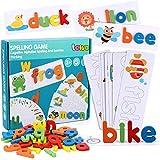 Lewo Puzzle Alphabet Bois Jouets pour Tout-Petits Puzzle de Lettres Puzzle en Bois Blocs ABC Jouets Éducatifs pour 3 4 5 6 Ans Tout-Petits Bébés Enfants Garçons