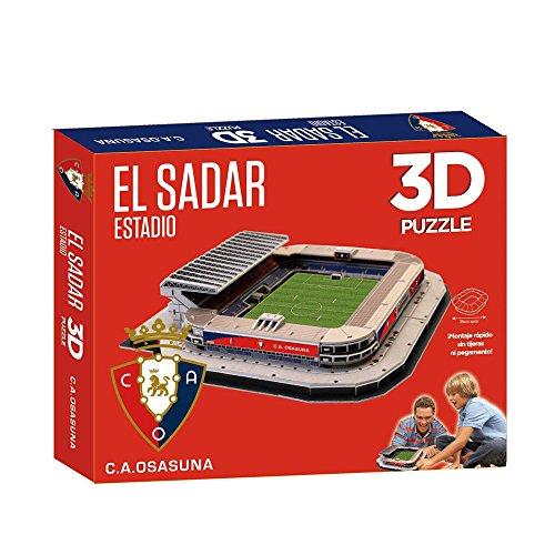 Eleven Force 63133 Puzzel 3D Stadion EL Sadar (C.A. Osasuna), groen, ninguna