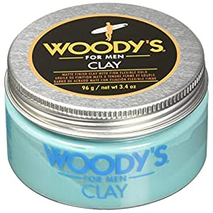 Beauty Shopping Woody's Matte Finish Clay for Men, Styling, 3.4 Ounce