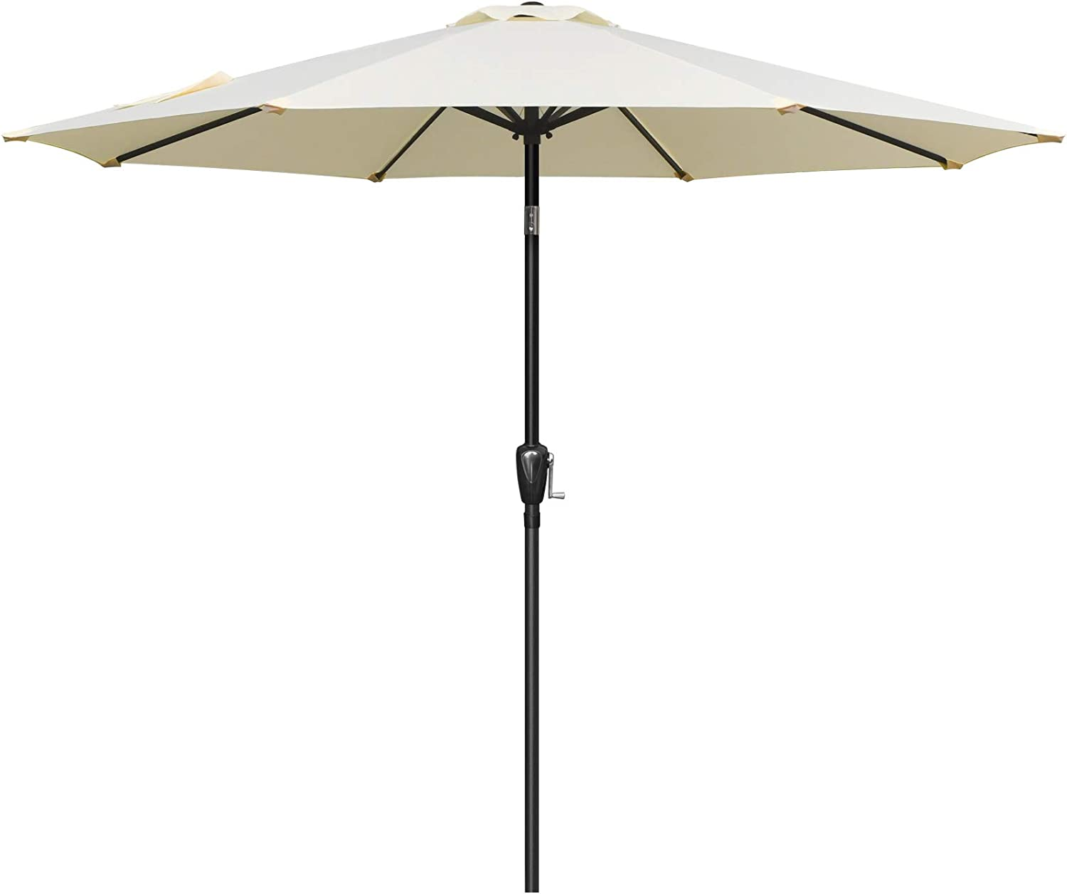 Simple Deluxe 9ft Outdoor Luxury goods Market with Patio Table New color Butto Umbrella