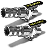 AZUNO Grease Gun Coupler, 2nd Generation Upgraded to 12,000 PSI, Grease Gun Tips Quick Lock and Release, Compatible with All Grease Guns 1/8' NPT Grease Gun Fittings (2 Pack)
