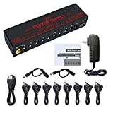 VSN Guitar Pedal Power Supply 10 Isolated DC Output for Power Supply 9V/12V/18V DC Outputs & USB Charging Port with Short Circuit/Overcurrent Protect